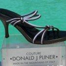 Donald Pliner COUTURE $225 MESH ELASTIC LEATHER Shoe NIB EXPRESSO LAVENDER