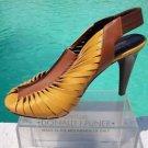 Donald Pliner $385 TWISTED Leather ELASTIC Slingback Shoe NIB PEEP-TOE SIGNATURE