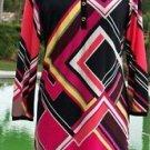 Cache $158 GEOMETRIC COLOR BLOCK NWT XS/S/M/L/XL SHIRT DRESS + REMOVEABLE BELT