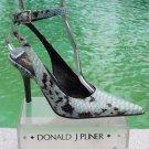 Donald Pliner $400 COUTURE PYTHON PATENT LEATHER Shoe Pump NIB ANKLE WRAP 6.5