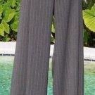 Cache $148 WIDE LEG PIN STRIPE Pant NWT 4/6/8 S/M STRETCH Lillie Rubin