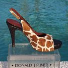 Donald Pliner $295 COUTURE GATOR LEATHER HAIR CALF Shoe NIB 6 PLATFORM SLINGBACK