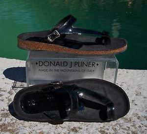Donald Pliner COUTURE $200 PATENT LEATHER Shoe NIB FLEX CORK GEL SOLE 6.5