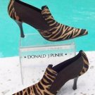Donald Pliner $395 HAIR CALF LEATHER Bootie Shoe Pump NIB 8 ELASTIC SIDE PANEL