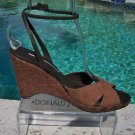 Donald Pliner $235 COUTURE LEATHER PLATFORM Shoe NIB WEDGE ANKLE WRAP 8 8.5 11