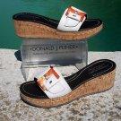 Donald Pliner $335 COUTURE CORK WEDGE LEATHER SANDAL PLATFORM Shoe 10.5