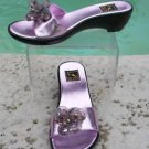 Reed Evins $250 LEATHER Shoe NIB Wedge Sandal  FLEXABLE SOLE EMBELLISHED