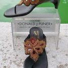 Donald Pliner $325 COUTURE BEADED LEATHER Shoe Sandal NIB THONG T-STRAP SIGNATU