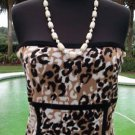 Cache $88 STRAPLESS CAMI TUBE TOP NWT XS/S/M/L/XL STRETCH ANIMAL PRINT