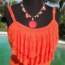 Cache $88 CAMI Top NWT S/M/L/XL ADJUSTABLE STRAPS STRETCH KNIT LAYERED FRONT