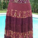 Cache $128 SEQUIN LACE EVENING DAY Skirt BOHO HIPPIE NWT 2/4/6/8/10 XS/S/M