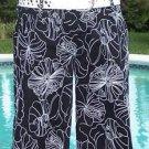 Cache HIBISCUS EMBROIDER WALKING BERMUDA CITY Short Dress Pant NWT 2/4/6/8/10/12