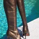 Donald Pliner $350 COUTURE METALLIC LEATHER Boot Shoe NIB STRETCH NAPPA BRONZE