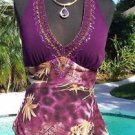 Cache $128 SILK EMBELLISHED HALTER STRETCH Top NWT XS WEAR ALL YEAR