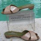 Donald Pliner $225 COUTURE SLIDE SANDAL METALLIC LEATHER Shoe NIB 6.5 FLAT