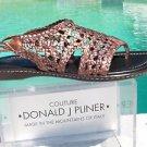 Donald Pliner $245 METALLIC LEATHER FLEXIBLE SOLE Shoe Sandal NIB 5.5 6 6.5 7