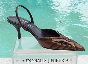 Donald Pliner $265 COUTURE  COBRA LEATHER Shoe NIB 5.5 POINTY TOE SLING BACK
