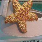 DONALD PLINER $195 RHINESTONE LEATHER METAL STAR BELT NWT S/M/L/XL ADJUSTABLE