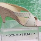 Donald Pliner $375 COUTURE LEATHER WEDGE Shoe NIB CORK HEEL SANDAL SLIDE SIGNATU