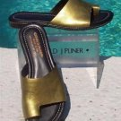 Donald Pliner COUTURE $235 METALLIC LEATHER Shoe NIB 6.5 FLAT TOE RING SLIDE
