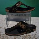 Donald Pliner $255 COUTURE PEACE LEATHER Shoe NIB 6 SUEDE FOOTBED GEL SOLE