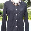 CHICO'S Chicos ADDITIONS 1 / 2 $59 Jacket Top NWT S/M/L INDULGE MESH KNIT OUTER