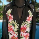 Cache $118 SHEER ILLUSION ADJUSTABLE CARGO SLEEVES FLORAL Top NWT XS/S/M/L