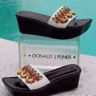 Donald Pliner COUTURE $245 SHINE NAPPA LEATHER Shoe NIB WOOD BEAD PLATFORM 6 11