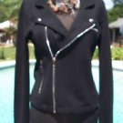 Cache $178 OFFSET FRONT ZIPPER Top JACKET NWT XS/S/M ZIPPER POCKET EMBELLISHED