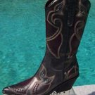 Donald Pliner $750 WESTERN COUTURE METALLIC PIG LEATHER BOOT Shoe NIB PEACE