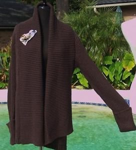 Cache LUXE $138 SHAWL COLLAR JACKET RIB KNIT Top NWT XS/S/M/L/XL SWEATER STRETCH