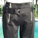 Cache $98 DRESSY CARGO FLATTERING CROP Pant NWT 2/4 XS/S REMOVABLE SELF-BELT