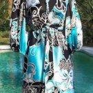 Cache $188 TROPICAL 100% SILK Dress + ADJUST DRAW WAIST BELT NWT 2/4 XS