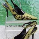 Donald Pliner $400 COUTURE PYTHON PATENT LEATHER Shoe Pump NIB ANKLE WRAP 6 10