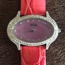 Cache $98 GATOR LEATHER BAND DIAMOND BEZEL Watch MatchesTop Pant NWT XS/S/M/L