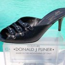 Donald Pliner $295 COUTURE GATOR Leather Shoe NIB SANDAL 3 STRAP BUCKLE SIGNATUR