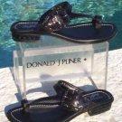 Donald Pliner $295 COUTURE METALLIC LEATHER Shoe Sandal NIB CHUNKY STONES 6