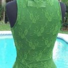 Cache $88 SHEER ILLUSION LACE BACK PEEK-A-BOO MESH  FRONT CAMI Top NWT XS/S