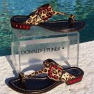 Donald Pliner $295 COUTURE HAIR CALF LEATHER Shoe Sandal NIB CHUNKY STONES 6