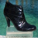 Donald Pliner $395 COUTURE CRISS CROSS POLISHED CALF LEATHER Boot Shoe NIB