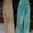 Donald Pliner $1050 SUEDE LEATHER PANT NWT Lined SHEER CUT-OUT SELF-BELT 0/2 XS