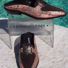 Donald Pliner $285 COUTURE RING LIZARD Loafer Shoe NIB SUEDE SPLIT TOE 5.5