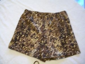 VENUS Swimwear $38 SWIM SHORT M NWT METALLIC REPTILE S/M