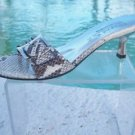 Marvin Aquatalia $225 PYTHON Leather Shoe Sandal NIB 7.5 TEXTURED BUCKLE T-STRAP