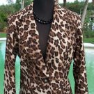 Cache $188 SILK CONGO ANIMAL LINED Jacket Top NWT 2/4/6 WEAR ALL YEAR