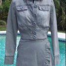 Cache $98 GRAY Denim WRAP RUCHED Skirt NWT 0/2/4/6/8/10/12 STRETCH WEAR ALL YEAR