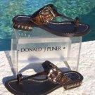 Donald Pliner $295 COUTURE METALLIC LEATHER Shoe Sandal NIB CHUNKY STONES 5.5