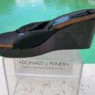 Donald Pliner $225 PATENT LEATHER WEDGE PLATFORM Shoe 10 NIB MESH ELASTIC CORK