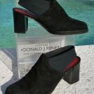 Donald Pliner $245 SUEDE LEATHER Boot Shoe NEW 7.5 NICOLE ELASTIC SLINGBACK