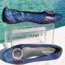 Donald Pliner $375 COUTURE HAIR CALF LEATHER RHINESTONE PEACE Flat Shoe NIB